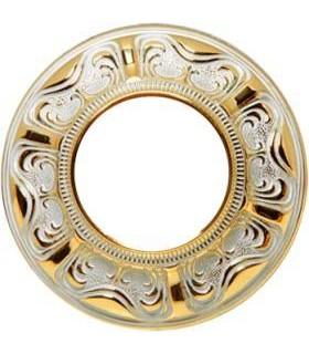 Круглый точечный светильник из латуни, FEDE Siena золото с белой патиной