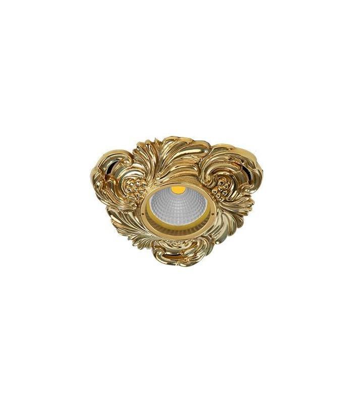 Треугольный точечный светильник из латуни, FEDE CHIANTI блестящее золото