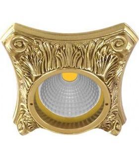 Светильник встраиваемый из латуни FEDE Pisa блестящее золото