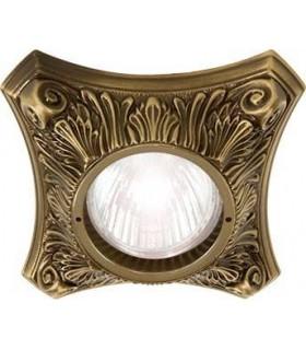 Светильник встраиваемый из латуни FEDE Pisa патина