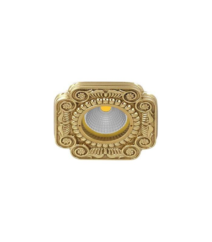 Квадратный точечный светильник из латуни, FEDE Firenze блестящее золото