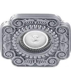 Квадратный точечный светильник из латуни, FEDE Firenze блестящий хром