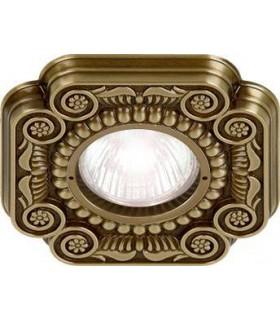 Квадратный точечный светильник из латуни, FEDE Firenze патина