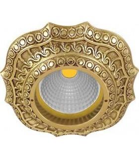 Скругленный точечный светильник из латуни, FEDE Lucca блестящее золото