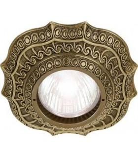 Скругленный точечный светильник из латуни, FEDE Lucca патина