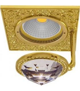 Квадратный точечный светильник FEDE CRYSTAL DE LUXE