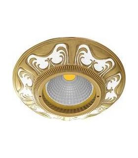 Круглый точечный светильник из латуни, FEDE Siena PEARL WHITE