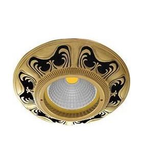 Круглый точечный светильник из латуни, FEDE Siena JET BLACK