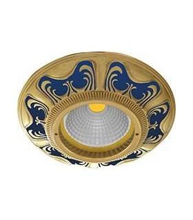 Круглый точечный светильник из латуни, FEDE Siena BLUE SAPPHIRE