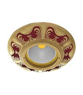 Круглый точечный светильник из латуни, FEDE Siena RUBY RED