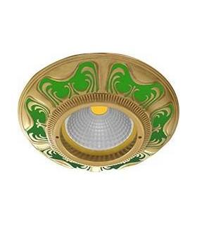 Круглый точечный светильник из латуни, FEDE Siena EMERALD GREEN