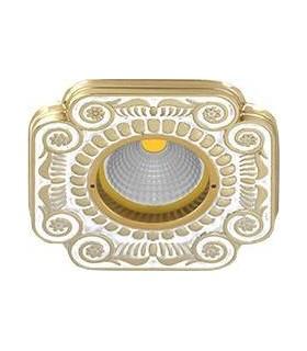 Квадратный точечный светильник из латуни, FEDE SMALTO ITALIANO FIRENZE PEARL WHITE