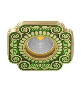 Квадратный точечный светильник из латуни, FEDE SMALTO ITALIANO FIRENZE EMERALD GREEN