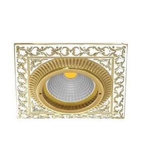 Квадратный точечный светильник из латуни, FEDE SMALTO ITALIANO SAN SEBASTIAN PEARL WHITE
