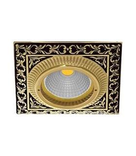 Квадратный точечный светильник из латуни, FEDE SMALTO ITALIANO SAN SEBASTIAN JET BLACK