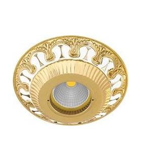 Круглый точечный светильник из латуни FEDE SMALTO ITALIANO CORDOBA PEARL WHITE