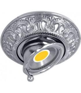 Круглый точечный поворотный светильник CORDOBA из латуни, блестящий хром