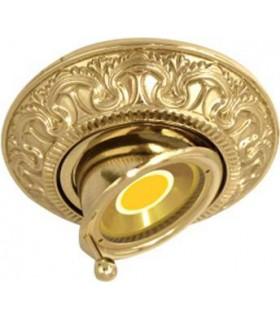 Круглый точечный поворотный светильник CORDOBA из латуни, блестящее золото