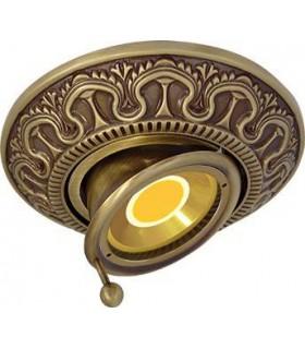 Круглый точечный поворотный светильник CORDOBA из латуни, патина