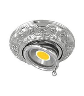 Круглый точечный поворотный светильник из латуни FEDE SIENA SWIVET & TILT, блестящий хром