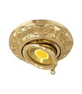 Круглый точечный поворотный светильник из латуни FEDE SIENA SWIVET & TILT, блестящее золото