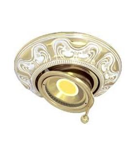 Круглый точечный поворотный светильник из латуни FEDE SIENA SWIVET & TILT, золото с белой патиной