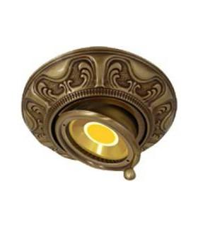 Круглый точечный поворотный светильник из латуни FEDE SIENA SWIVET & TILT, патина