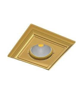 Квадратный точечный светильник из латуни FEDE PADOVA, блестящее золото
