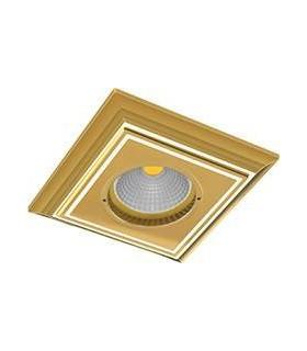 Квадратный точечный светильник из латуни FEDE PADOVA, золото с белой патиной