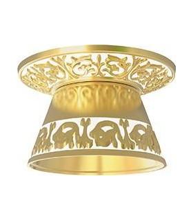 Круглый точечный светильник из латуни с декоративным рассеивателем FEDE EMPORIO ROUND II