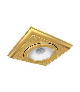 Квадратный встраиваемый, точечный светильник из латуни FEDE EMPORIO MODULAR I