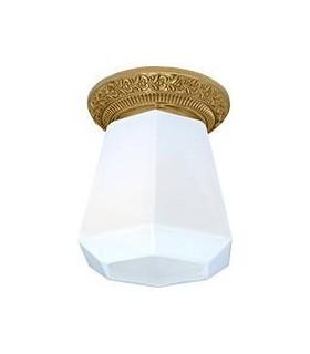 Накладной точечный светильник из латуни с матовым плафоном FEDE BILBAO I DECO, блестящее золото