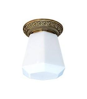 Накладной точечный светильник из латуни с матовым плафоном FEDE BILBAO I DECO, патина