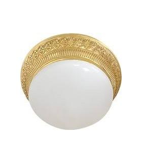 Накладной точечный светильник из латуни с матовым плафоном (на 2 лампы) FEDE BILBAO II, блестящее золото