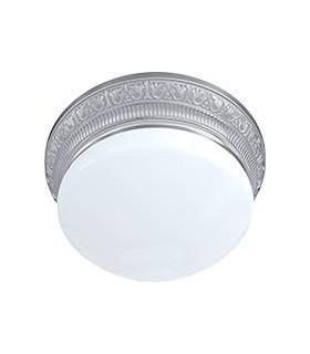 Накладной точечный светильник FEDE EMPORIO III из латуни с матовым плафоном (на 3 лампы), блестящий хром