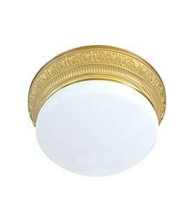 Накладной точечный светильник из латуни с матовым плафоном (на 3 лампы) FEDE EMPORIO III, блестящее золото