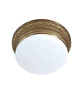 Накладной точечный светильник из латуни с матовым плафоном (на 3 лампы) FEDE EMPORIO III, патина