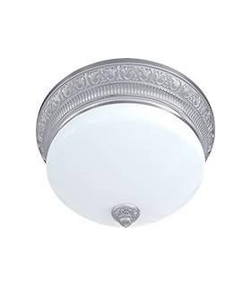 Накладной точечный светильник из латуни с матовым плафоном (на 3 лампы) FEDE EMPORIO III DECO, блестящий хром