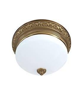 Накладной точечный светильник из латуни с матовым плафоном (на 3 лампы) FEDE EMPORIO III DECO, патина