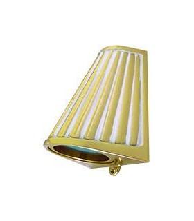 Накладной точечный светильник из латуни с матовым стеклом FEDE BARI OPAQUE GLASS, gold white patina