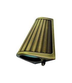Накладной точечный светильник из латуни с матовым стеклом FEDE BARI OPAQUE GLASS, bright patina