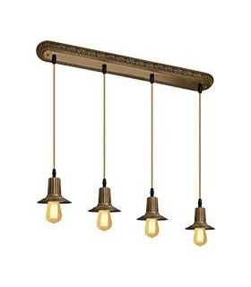 Подвесной потолочный светильник из латуни FEDE MILANO IV EDISON (четверной)