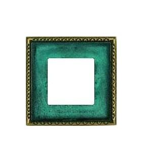 Рамка на 1 пост гор/верт FEDE TOLEDO, oxyde green