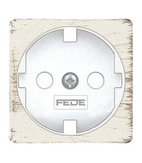 Обрамление розетки 2к+з FEDE, white decape + white