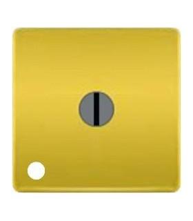 """Поворотный выключатель """"с двух мест"""" с лампой подсветки, цвет Bright Gold FEDE"""