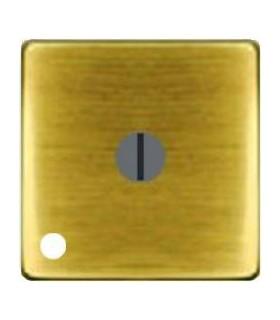 """Поворотный выключатель """"с двух мест"""" с лампой подсветки, цвет Bright Patina FEDE"""