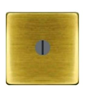 """Поворотный выключатель """"с двух мест"""" без лампы подсветки, цвет Bright Patina FEDE"""
