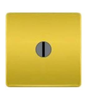 """Поворотный выключатель """"с двух мест"""" без лампы подсветки, цвет Bright Gold FEDE"""