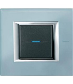 Выключатель Bticino Axolute Голубое стекло-VZS