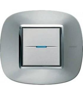 Выключатель Bticino Axolute Зеркальный алюминий-XC